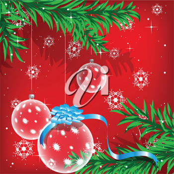 Royalty Free Clipart Image of a Christmas Background