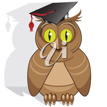 Royalty Free Clipart Image of an Owl