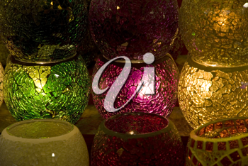 Royalty Free Photo of Candles and Lights