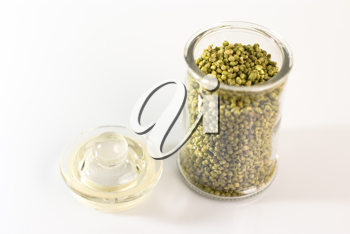 Royalty Free Photo of a Jar of Herbs