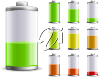 Royalty Free Clipart Image of a Battery Charge Status