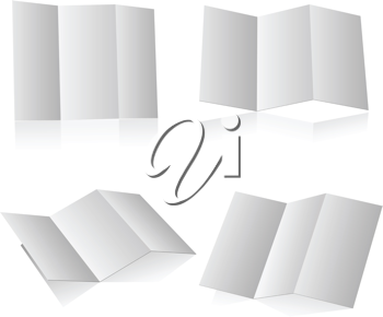 Royalty Free Clipart Image of a Blank Folding Booklet