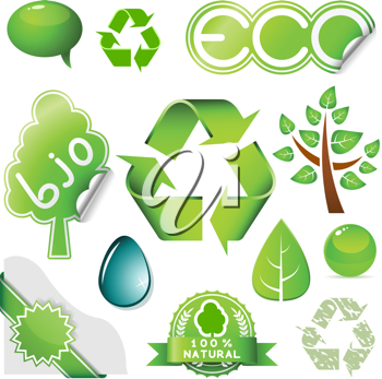 Royalty Free Clipart Image of Environmental Icons