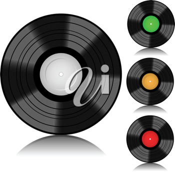 Royalty Free Clipart Image of Vinyl Records