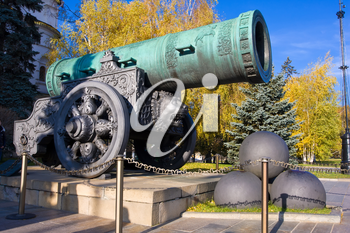 Tsar-pushka (King-cannon) in Moscow Kremlin. Russia