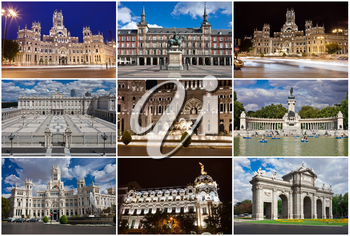 Collection of beautiful photos in Madrid, Spain