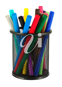 Royalty Free Photo of a Set of Felt-Tip Markers