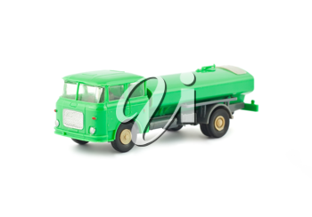 Royalty Free Photo of a Toy Fuel Tanker Truck