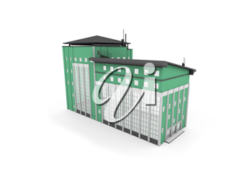 Royalty Free Clipart Image of a Building