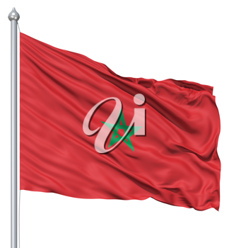Royalty Free Clipart Image of the Morocco Flag