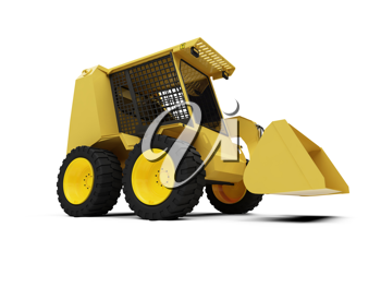 Royalty Free Clipart Image of a Construction Vehicle