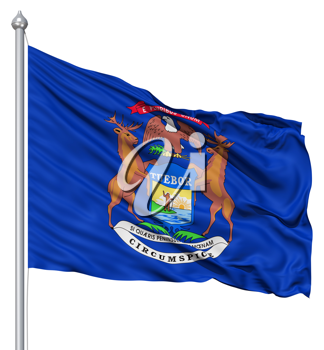 Royalty Free Clipart Image of the Flag of New York
