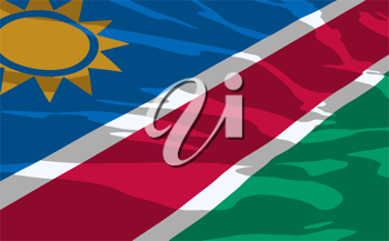 Royalty Free Clipart Image of the Flag of Namibia