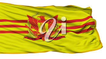 Republic Of Vietnam Military Forces Flag, Isolated On White Background, 3D Rendering