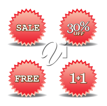 Royalty Free Clipart Image of Discount Labels