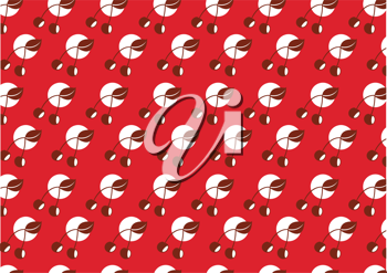 Royalty Free Clipart Image of a Cherry Background