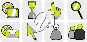 Royalty Free Clipart Image of Website Icons