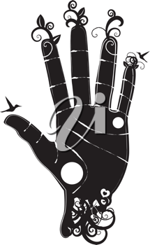 Royalty Free Clipart Image of a Hand