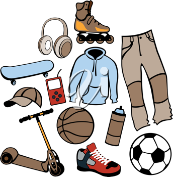Royalty Free Clipart Image of Men's Clothing