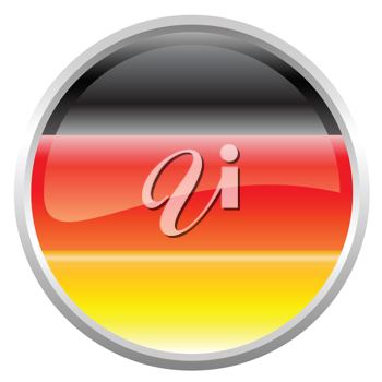 Royalty Free Clipart Image of a Flag of Germany Button