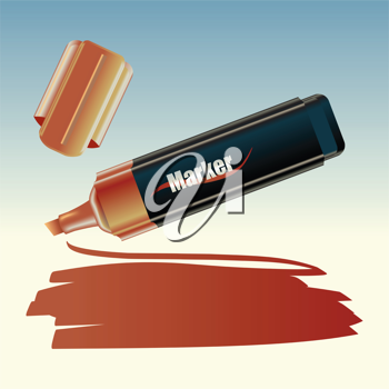 Royalty Free Clipart Image of a Marker