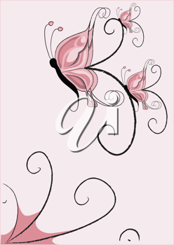 Royalty Free Clipart Image of a Butterfly Backgrounds
