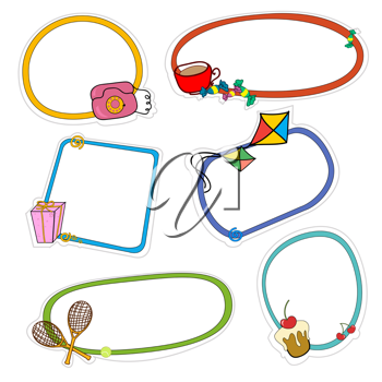 Royalty Free Clipart Image of Cute Stickers