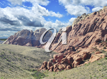 Royalty Free Photo of a Summer Mountain Landscape