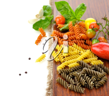 Royalty Free Photo of Pasta and Tomatoes