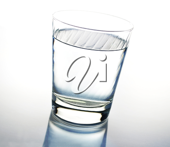 a glass of water , close up shot