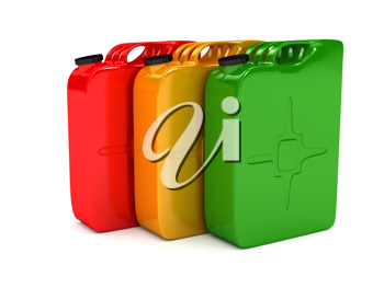 Royalty Free Clipart Image of Jerrycans