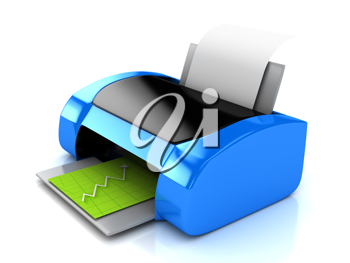 Royalty Free Clipart Image of a Printer
