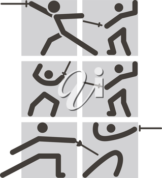 Summer sports icon - fencing icons