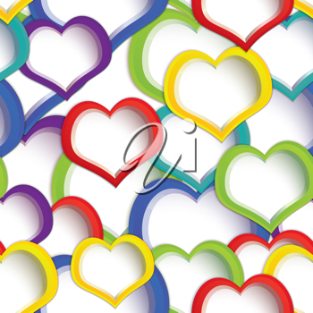 Royalty Free Clipart Image of a Hearts Background