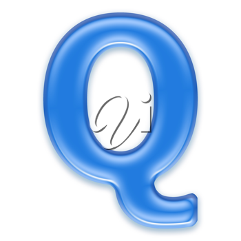 Royalty Free Clipart Image of a Letter 'Q'