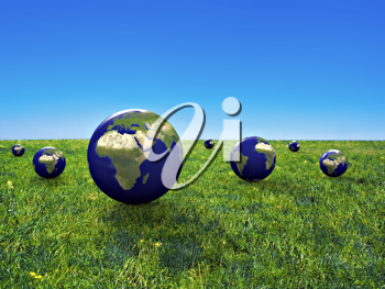 Royalty Free Clipart Image of an Earth Conservation Concept