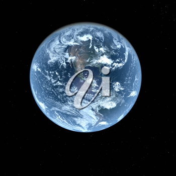 Royalty Free Clipart Image of View of Earth from Space