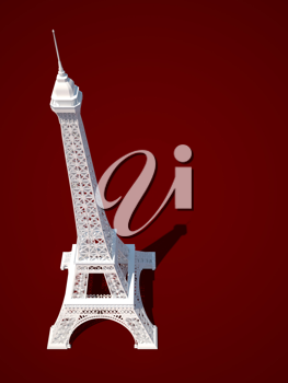 Royalty Free Clipart Image of the Eiffel Tower