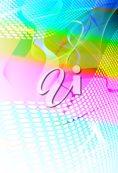 Royalty Free Clipart Image of a Neon Background