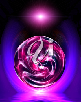 Royalty Free Clipart Image of a Energy ball