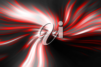 abstract red vortex on a black background