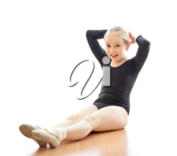 Royalty Free Photo of a Young Girl Exercising