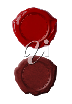 Royalty Free Photo of Red Wax Seals