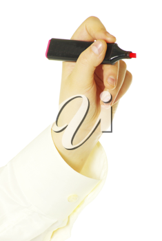 Royalty Free Photo of a Person Holding a Marker