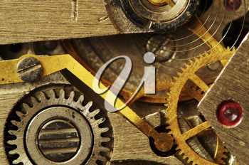 Royalty Free Photo of an Old Metal Clock Mechanism