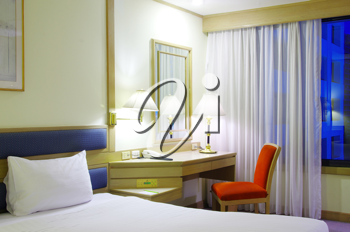Royalty Free Photo of a Luxurious Hotel Room Interior