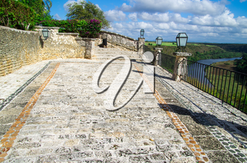 Altos de Chavon with view on river