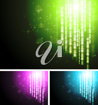 Royalty Free Clipart Image of a Set of Abstract Backgrounds