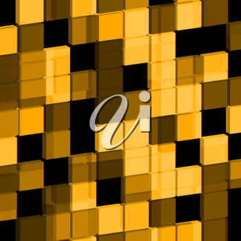 Royalty Free Clipart Image of an Abstract Cube Backgroun