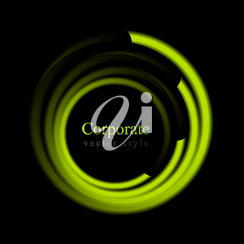 Abstract bright swirl circle background. Vector logo eps 10